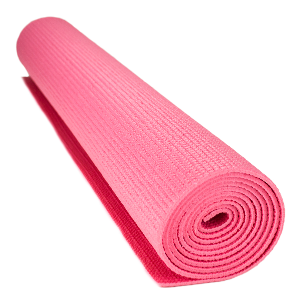 1/8-inch (3mm) Compact Yoga Mat With No-Slip Texture