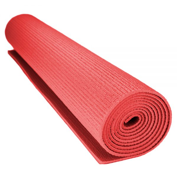 1 8 Inch 3mm Compact Yoga Mat With No Slip Texture Red