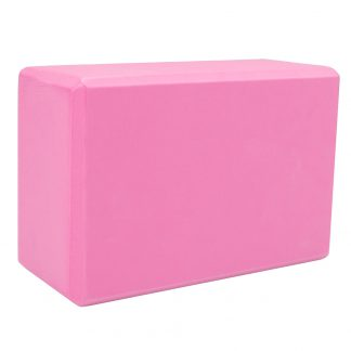 Large pink yoga foam block